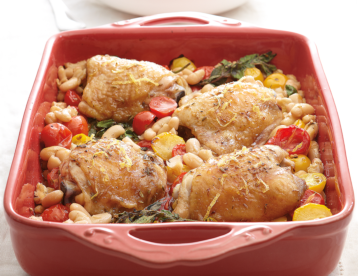 Baked Chicken And Tomatoes