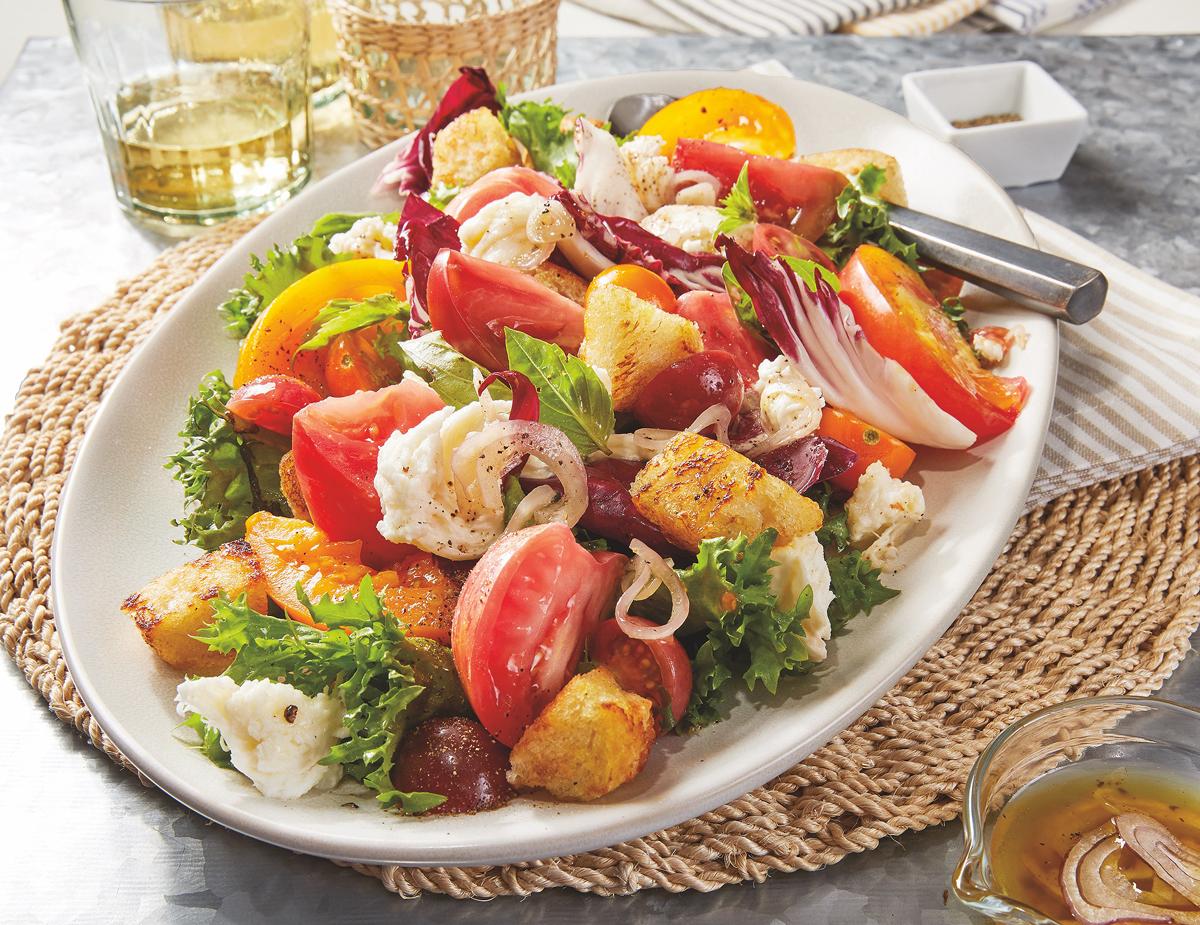 Heirloom Tomato Panzenella Salad