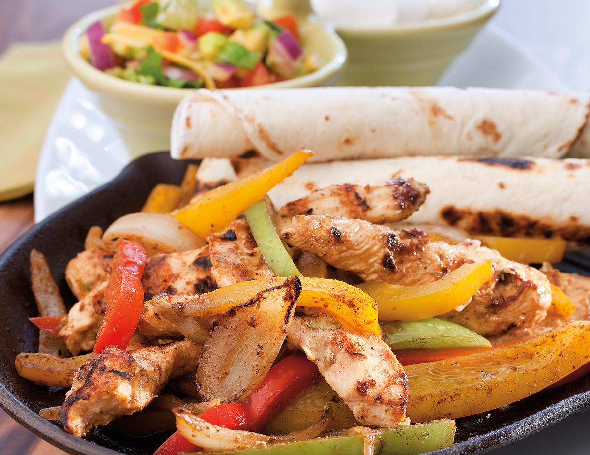 Chicken-Fajitas-with-Summer-Guacamole