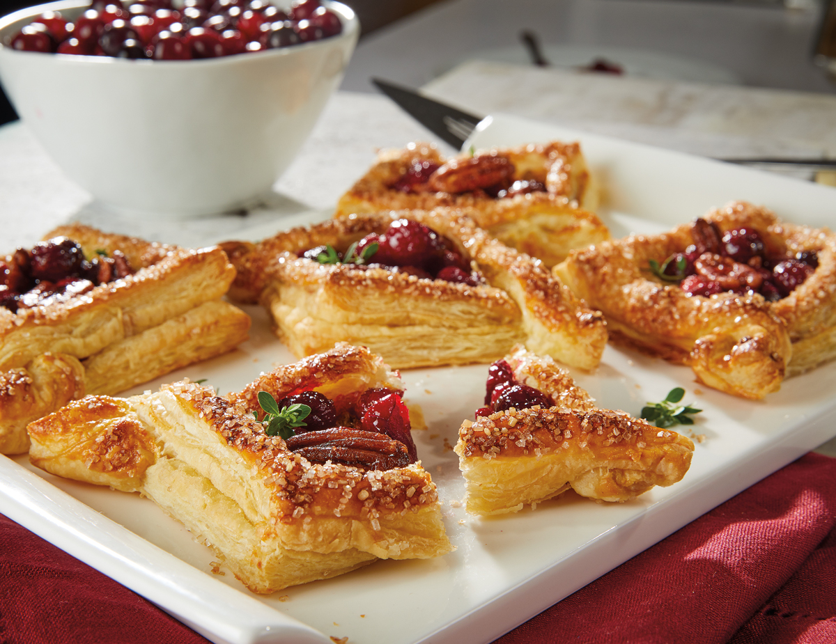 Cranberry Brie Tarts