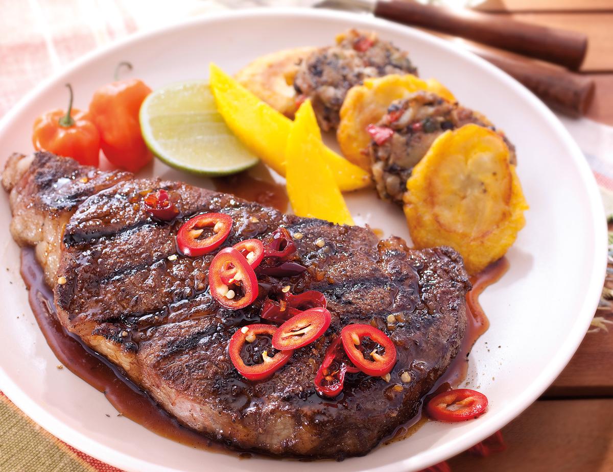 Jamacian-Ribeye-Steak
