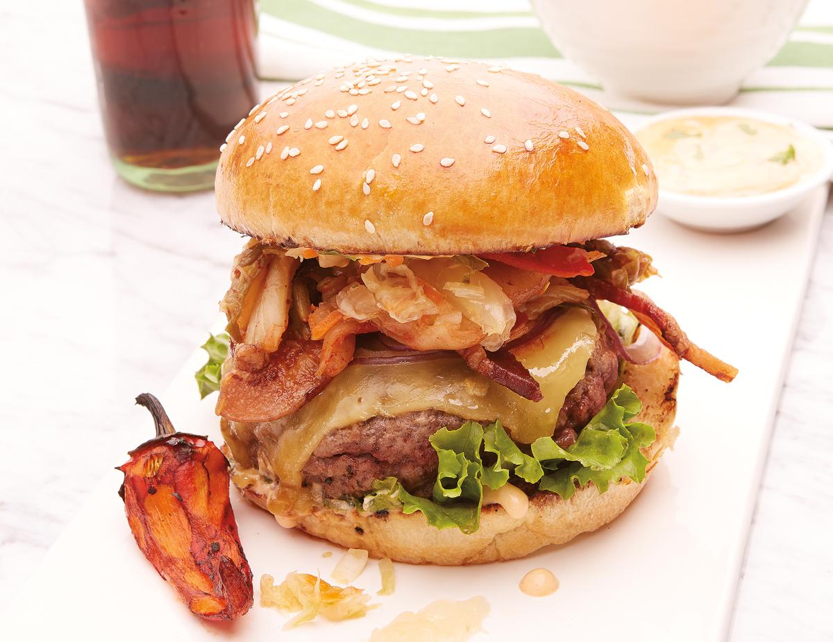 Kimchi-Burger