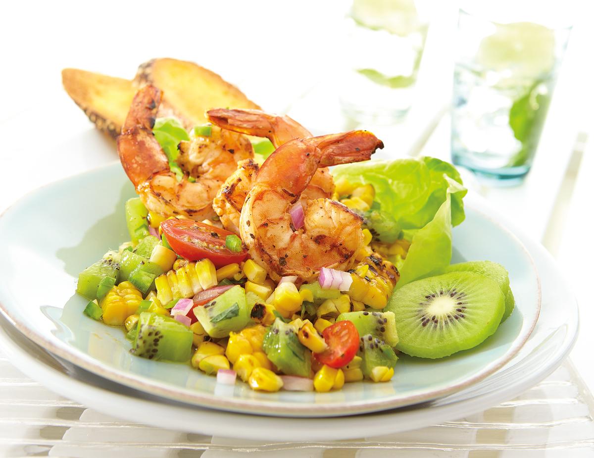 Spicy-Prawn-Summer-Corn-and-Kiwi-Salad