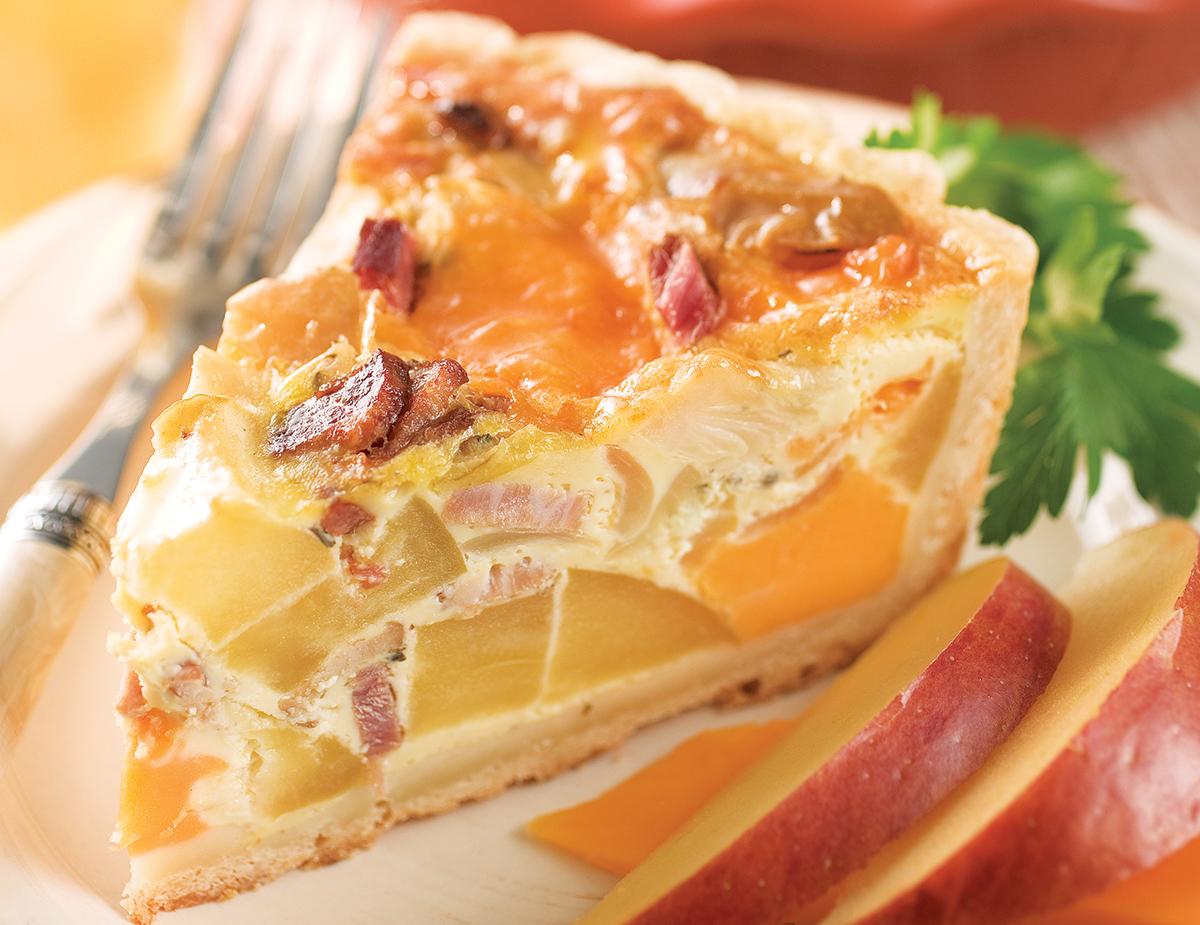 Apple Bacon Quiche