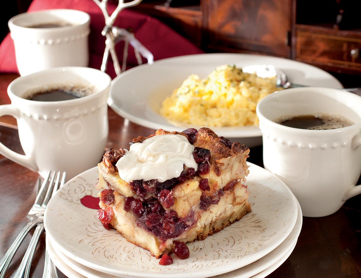 Cranberry Walnut Bread Pudding