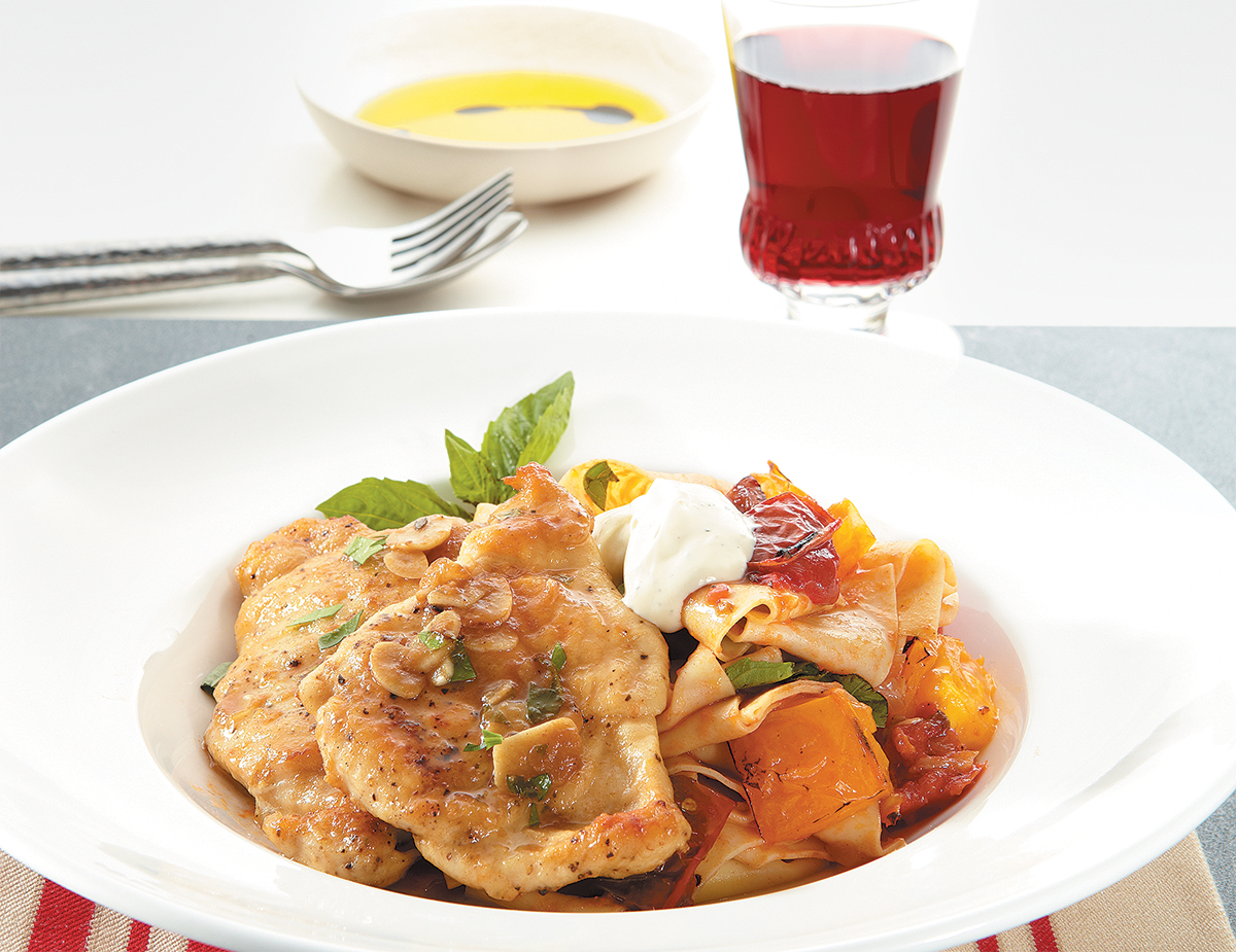 Chicken Lemon Garlic Tomato Pasta
