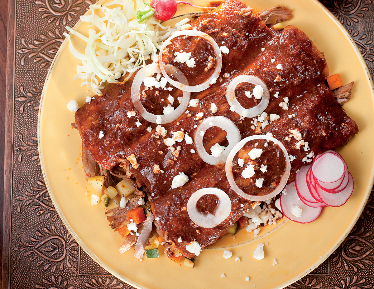 Pork Picadillo Enchilada Mole