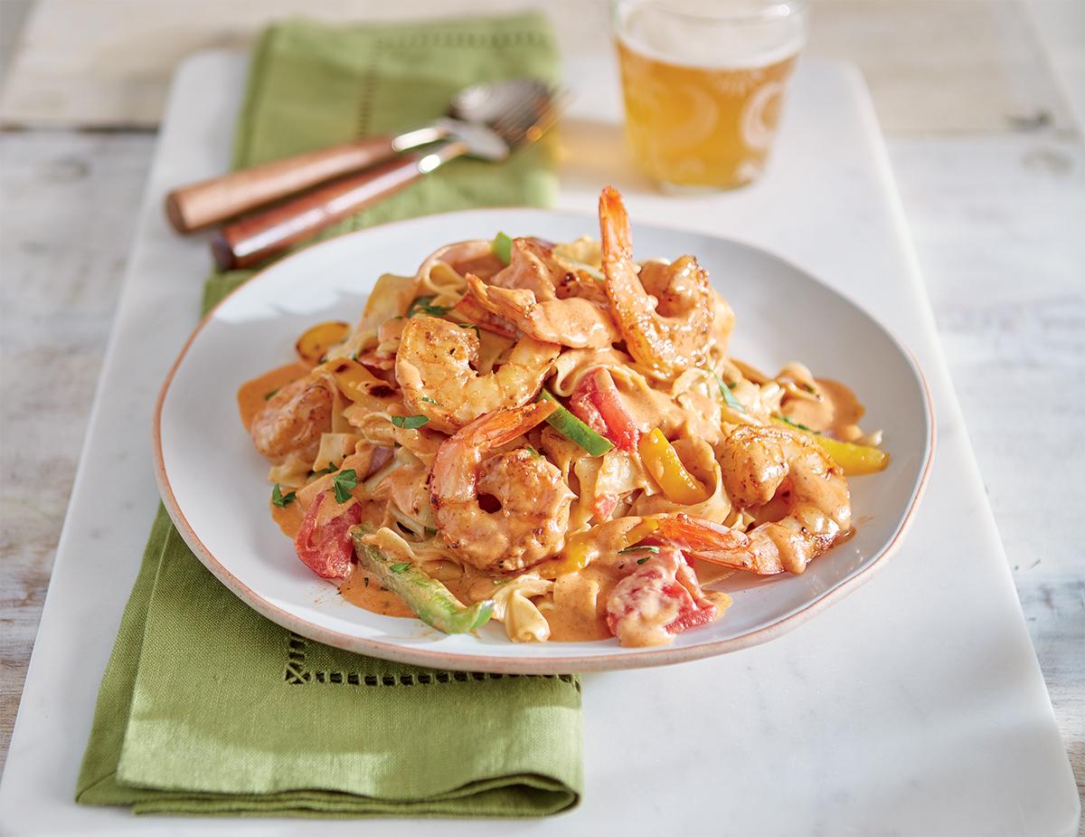 Prawn Cajun Shrimp Pasta