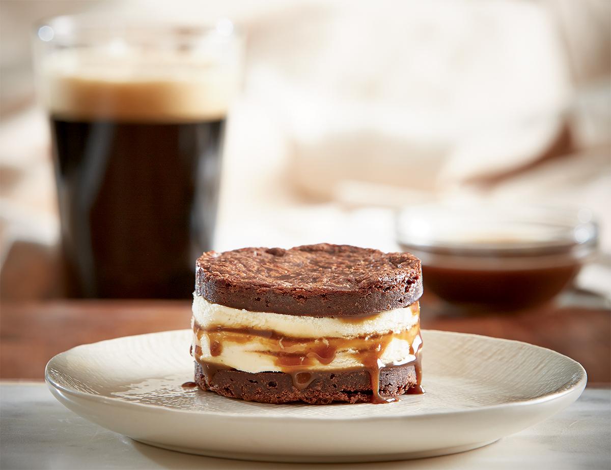 Stout Brownie Ice Cream Sandwich
