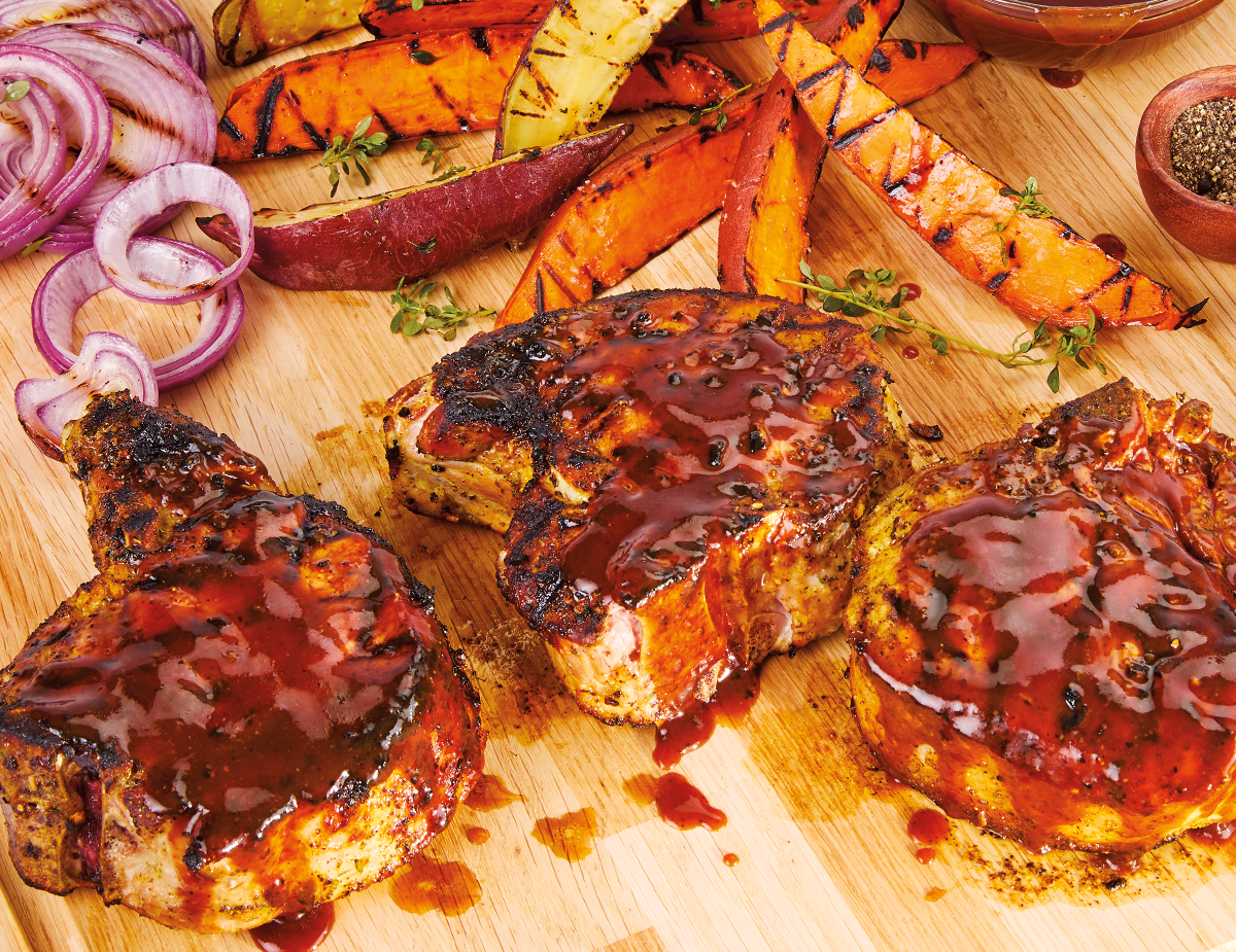 Cola BBQ Sauce Pork Chops